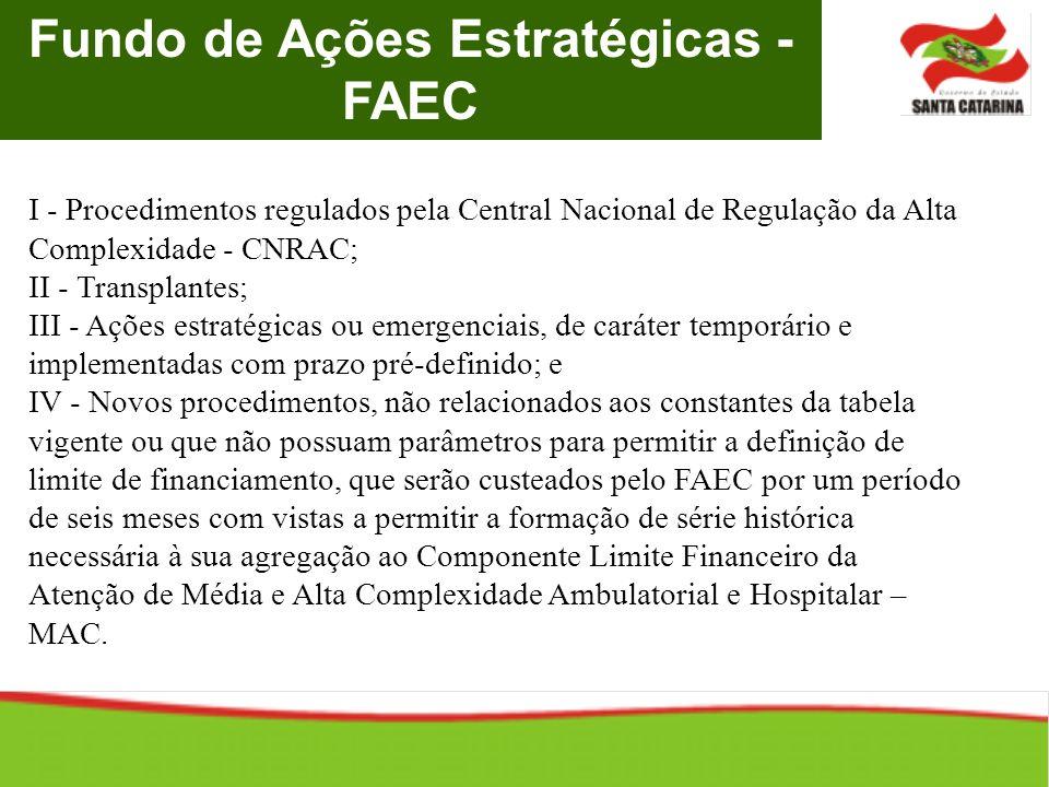 Fundo de Ações Estratégicas - FAEC