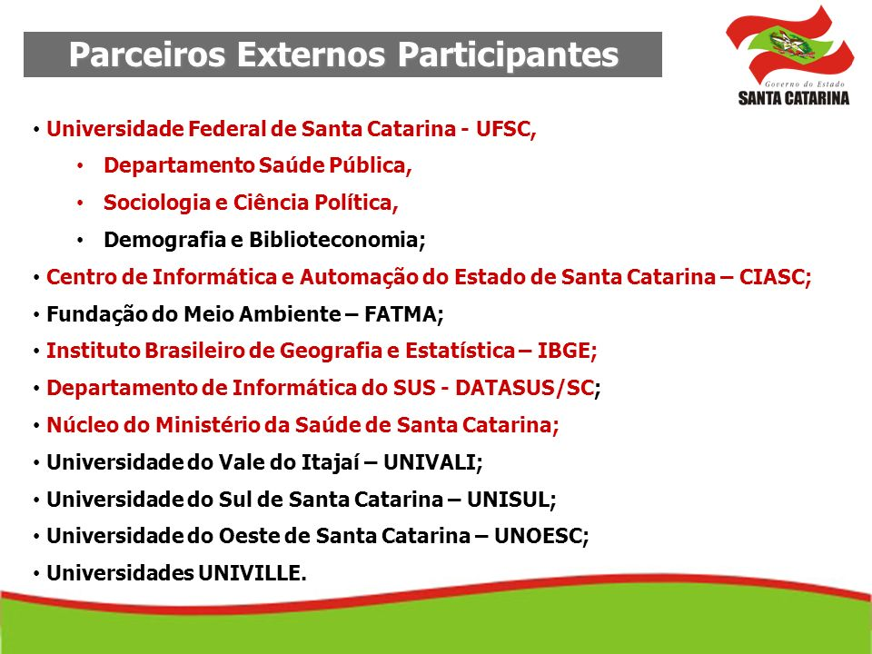 Parceiros Externos Participantes
