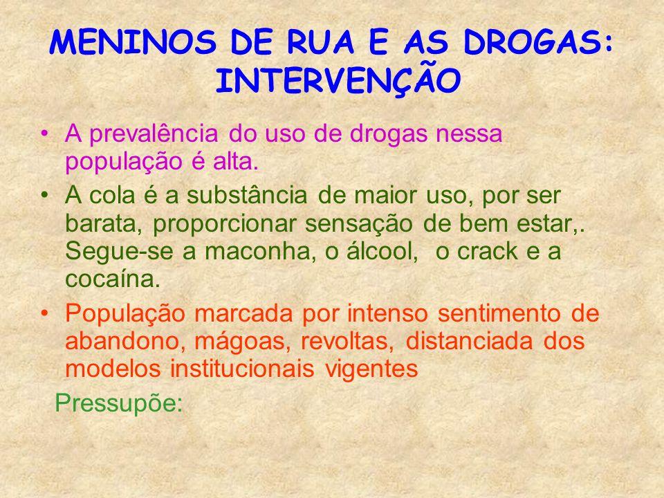 MENINOS DE RUA E AS DROGAS: INTERVENÇÃO
