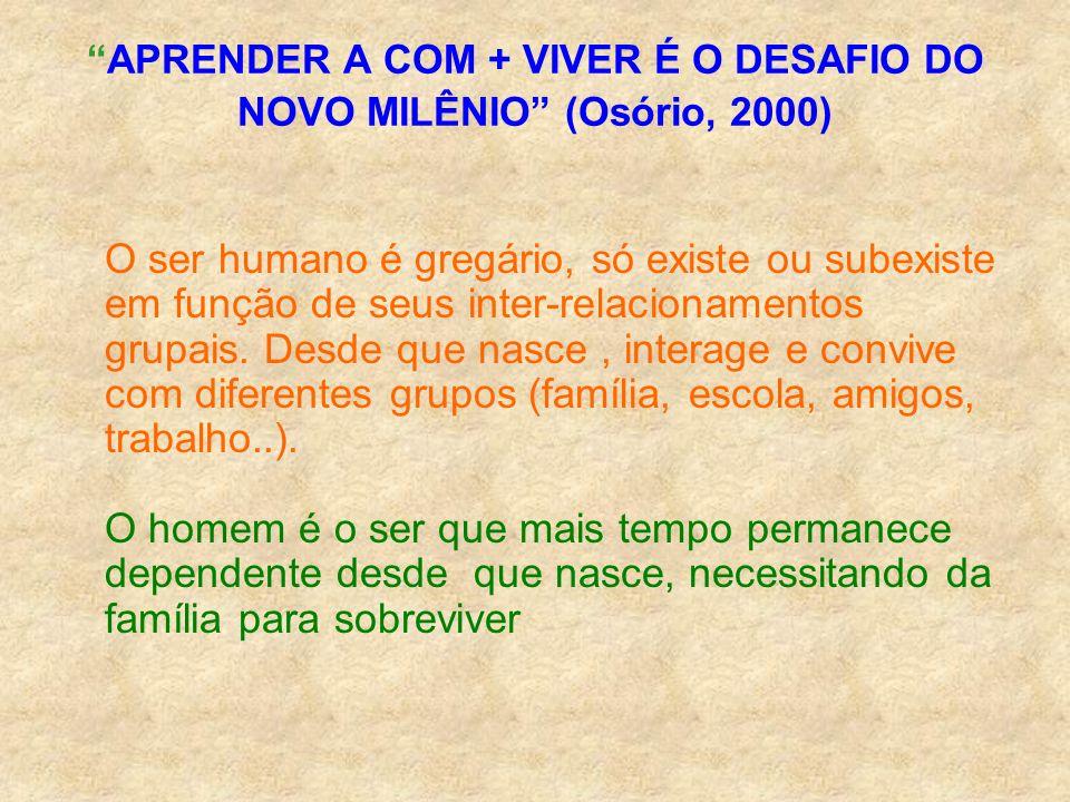 APRENDER A COM + VIVER É O DESAFIO DO NOVO MILÊNIO (Osório, 2000)