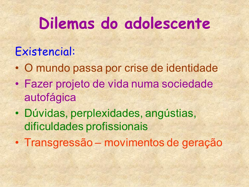 Dilemas do adolescente