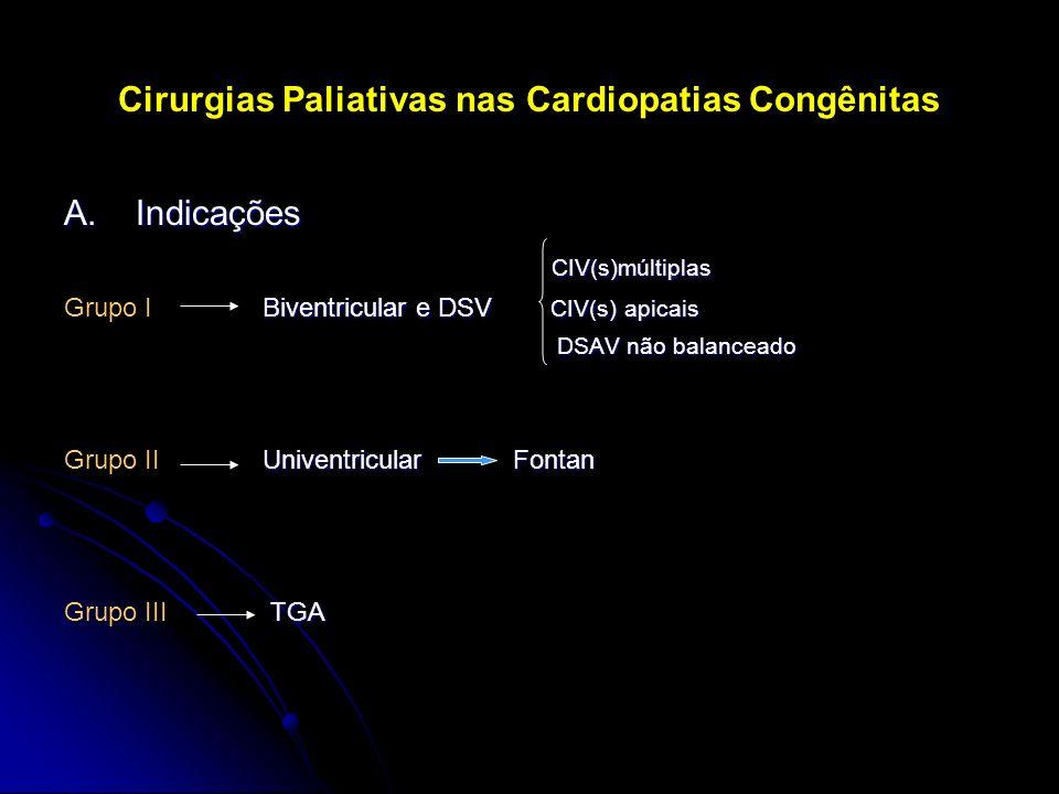 Cirurgias Paliativas nas Cardiopatias Congênitas