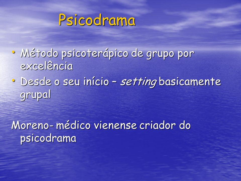 Psicodrama Método psicoterápico de grupo por excelência