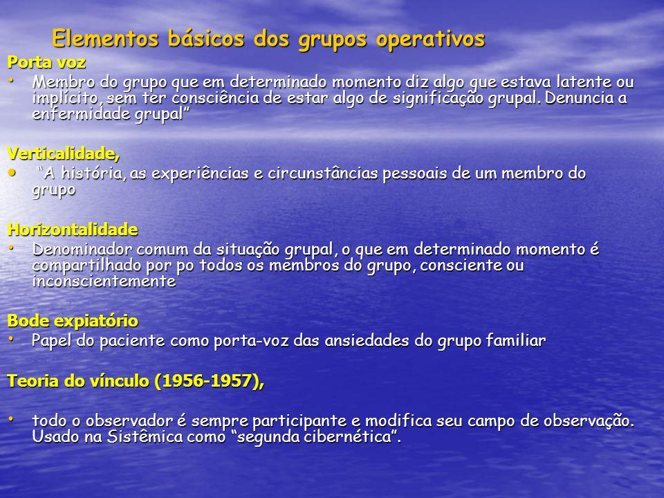 Elementos básicos dos grupos operativos