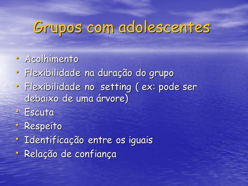Grupos com adolescentes