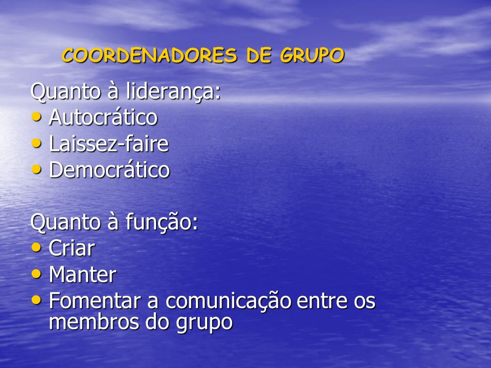 COORDENADORES DE GRUPO