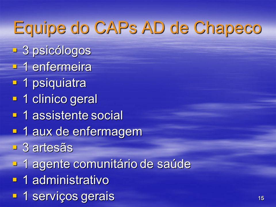 Equipe do CAPs AD de Chapeco