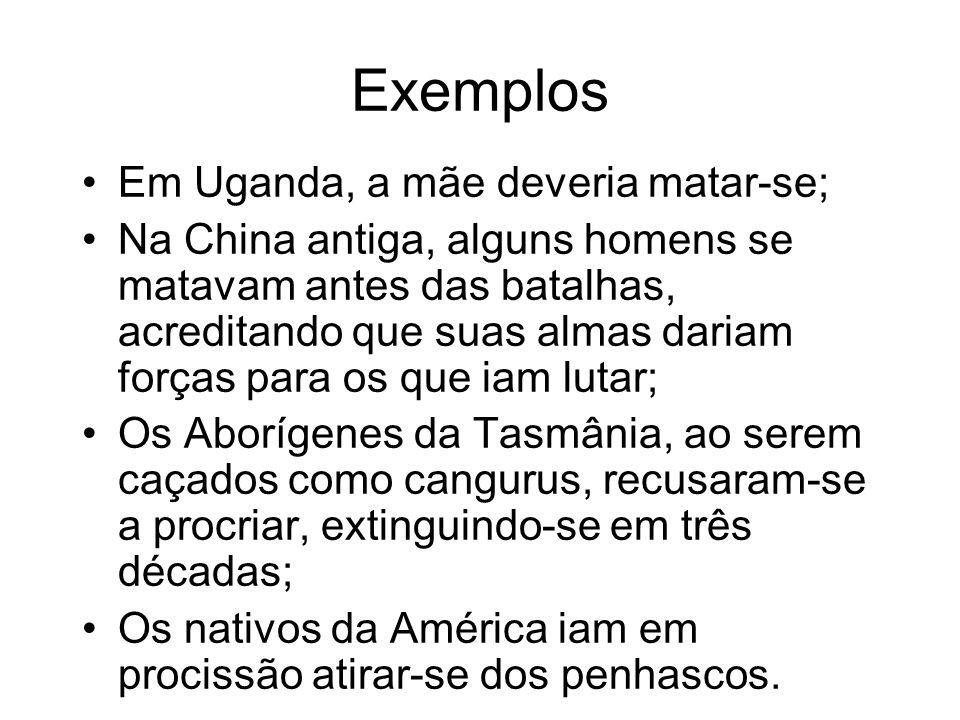 Exemplos Em Uganda, a mãe deveria matar-se;
