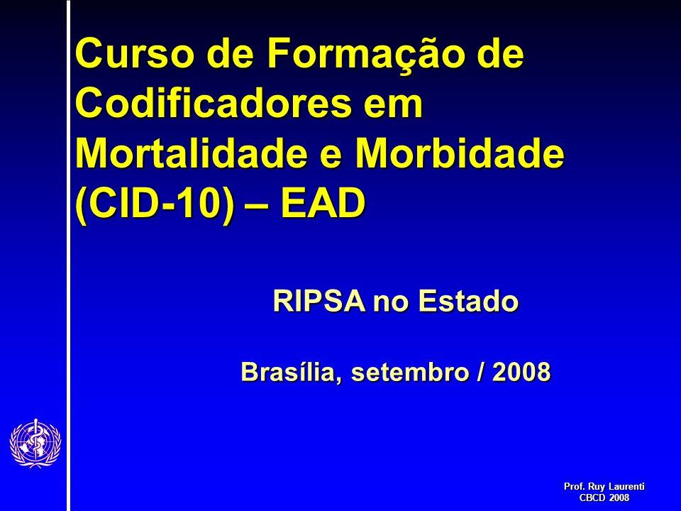 Curso de Formação de Codificadores em Mortalidade e Morbidade (CID-10) – EAD