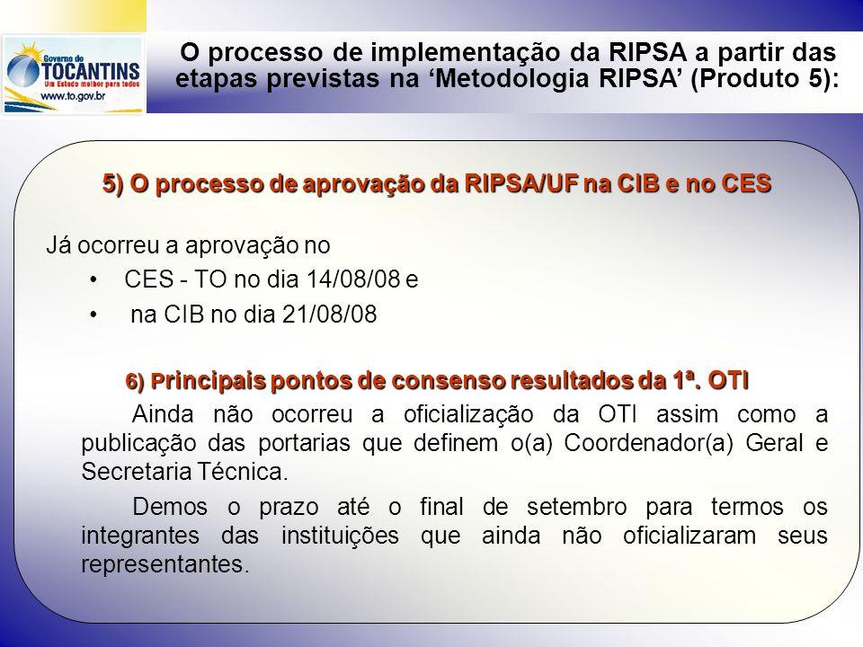 5) O processo de aprovação da RIPSA/UF na CIB e no CES