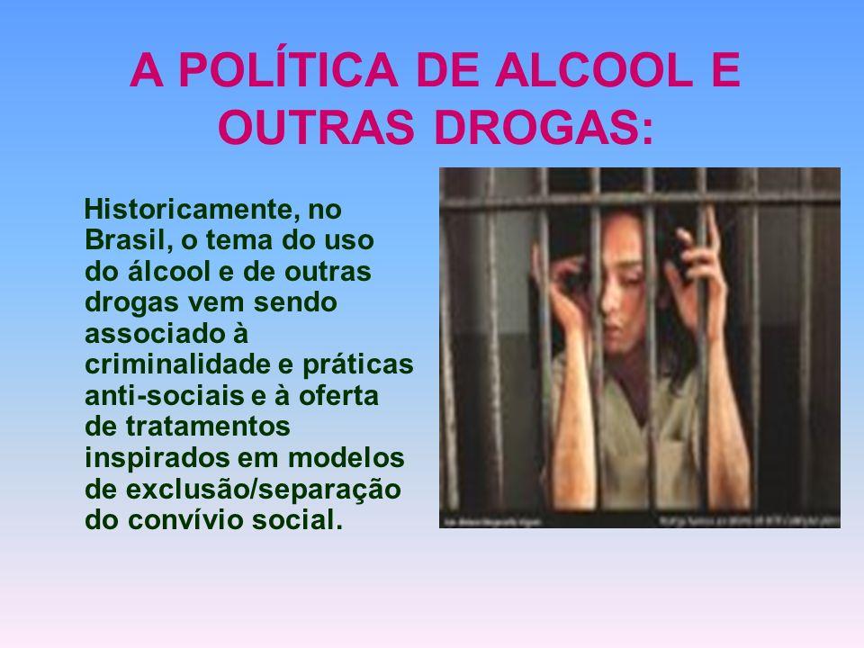 A POLÍTICA DE ALCOOL E OUTRAS DROGAS: