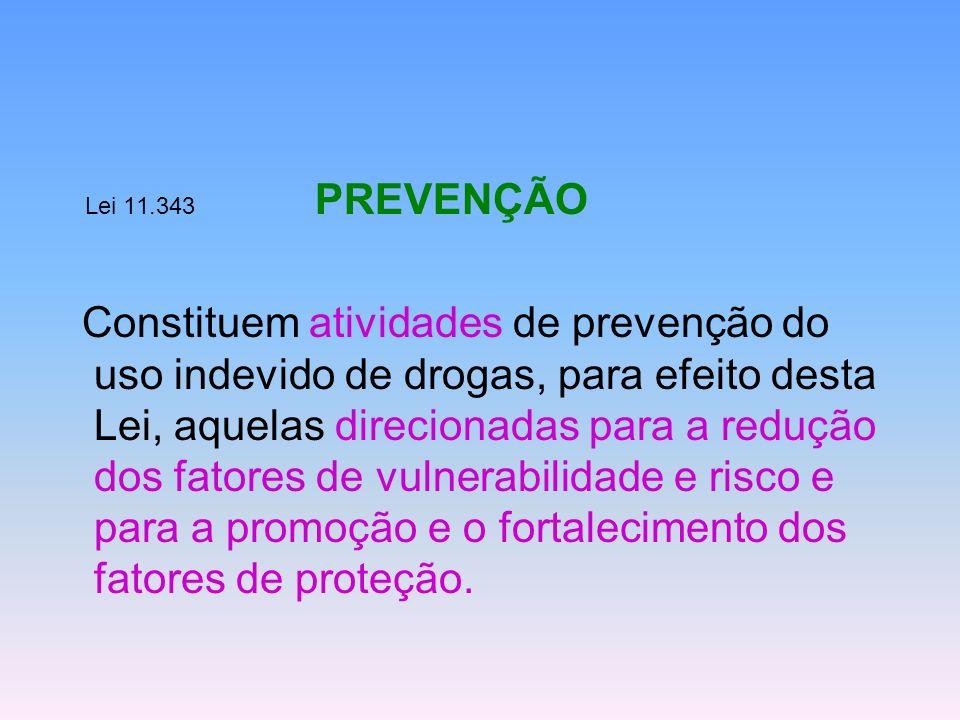 Lei 11.343 PREVENÇÃO