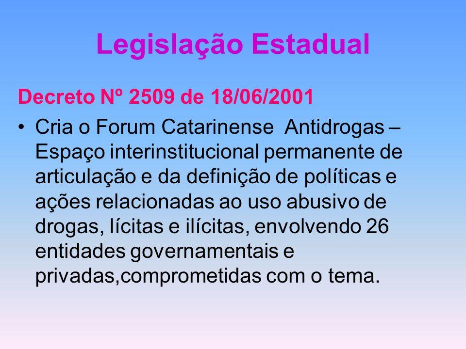 Legislação Estadual Decreto Nº 2509 de 18/06/2001