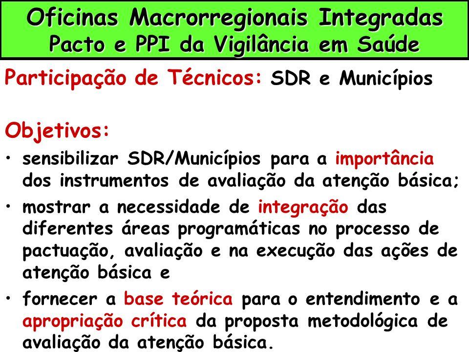 Oficinas Macrorregionais Integradas Pacto e PPI da Vigilância em Saúde