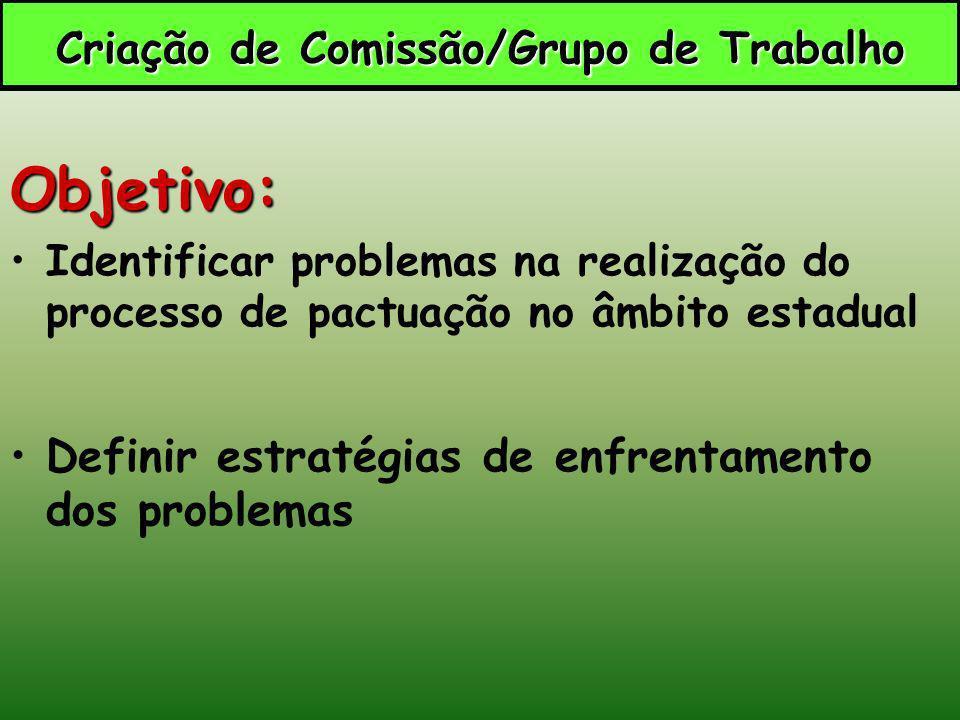 Criação de Comissão/Grupo de Trabalho