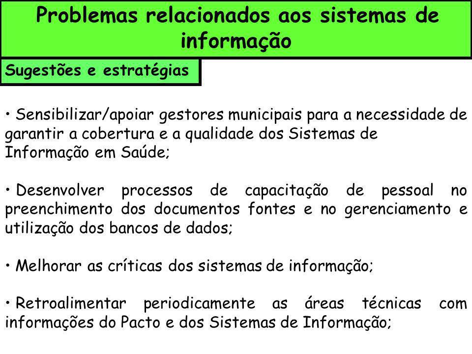Problemas relacionados aos sistemas de informação