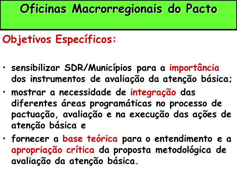 Oficinas Macrorregionais do Pacto