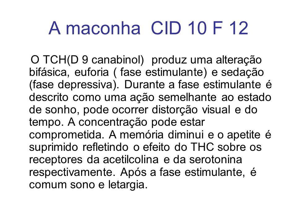 A maconha CID 10 F 12
