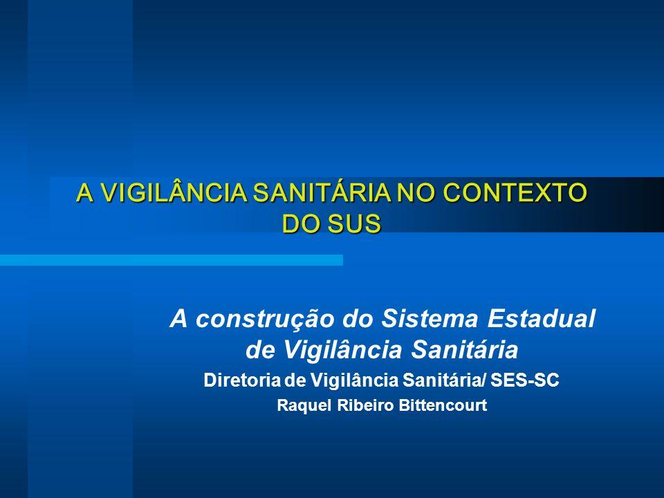 A VIGILÂNCIA SANITÁRIA NO CONTEXTO DO SUS