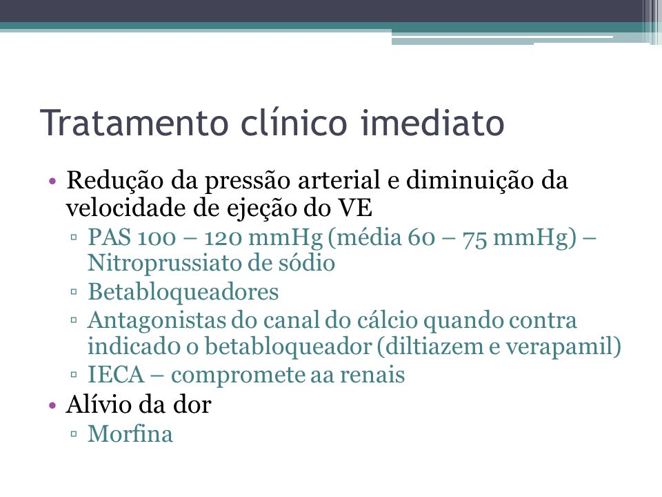 Tratamento clínico imediato
