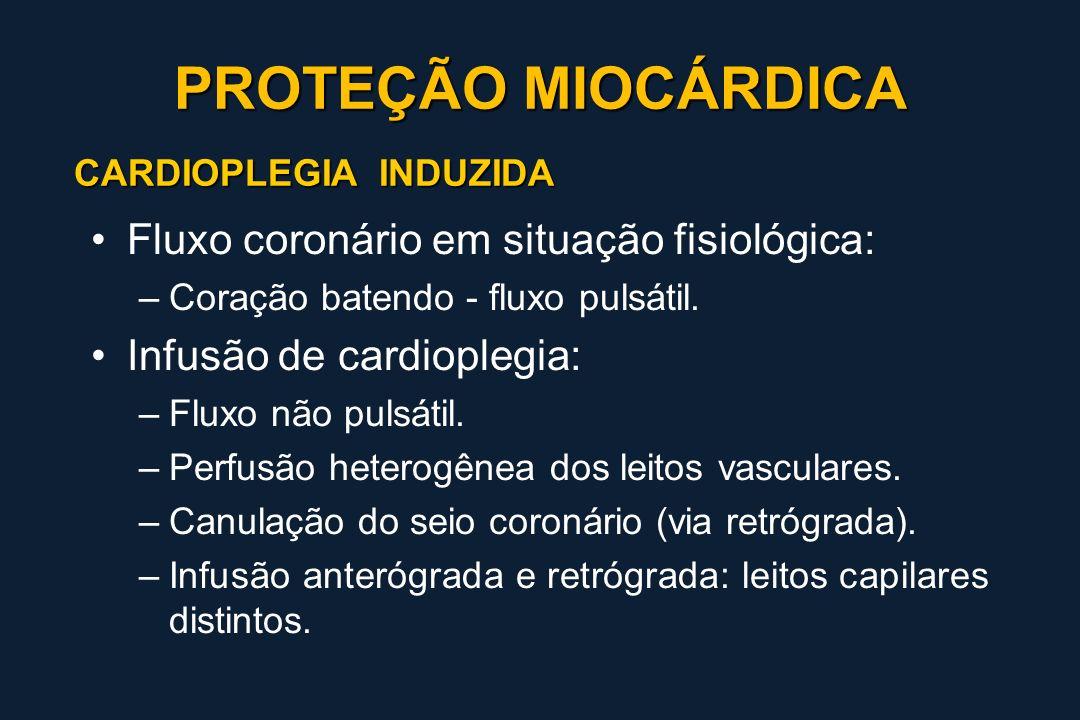 PROTEÇÃO MIOCÁRDICA Fluxo coronário em situação fisiológica: