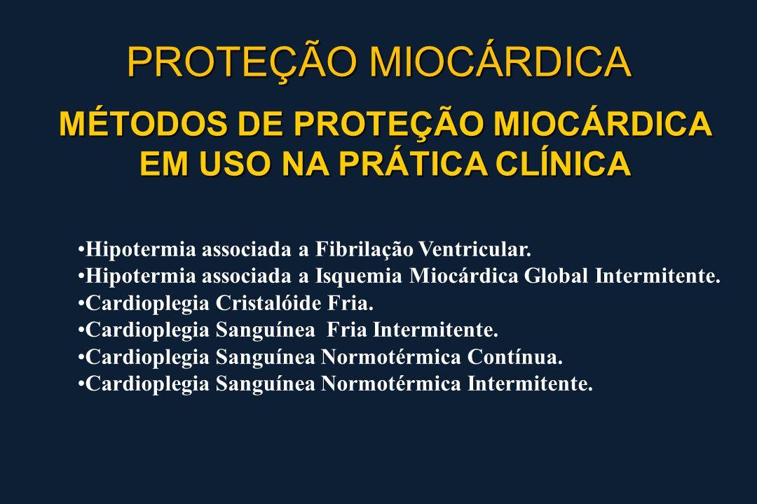 MÉTODOS DE PROTEÇÃO MIOCÁRDICA EM USO NA PRÁTICA CLÍNICA