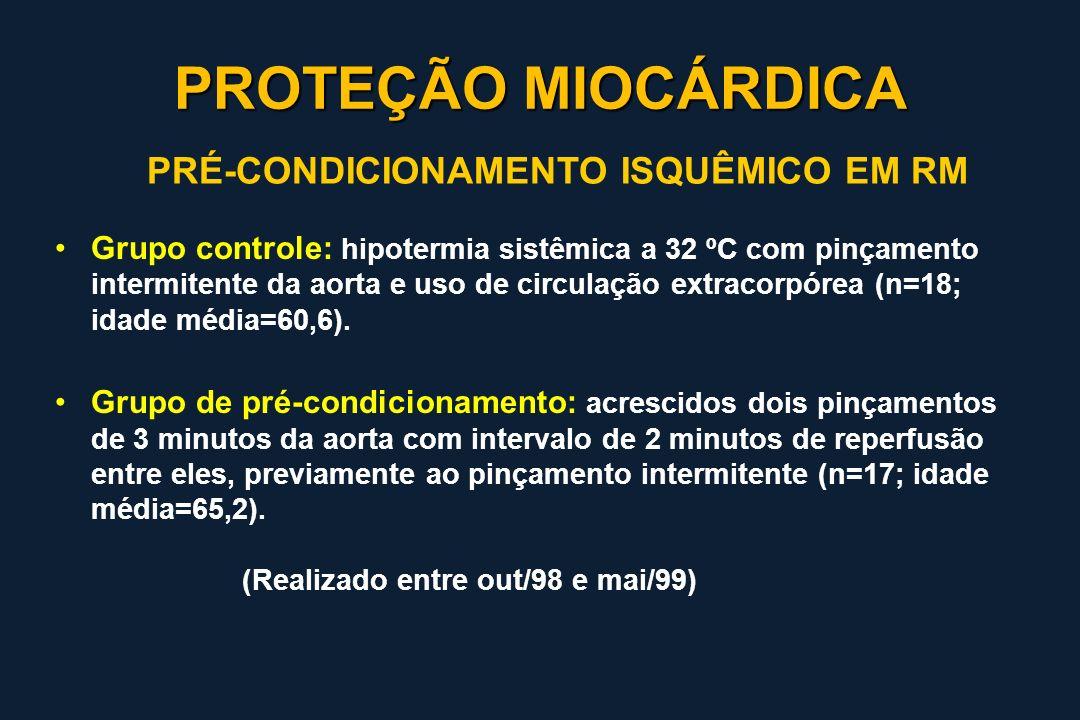 PROTEÇÃO MIOCÁRDICA PRÉ-CONDICIONAMENTO ISQUÊMICO EM RM