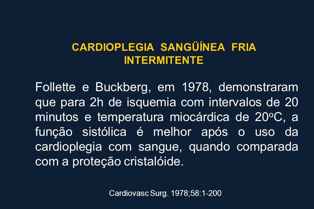 CARDIOPLEGIA SANGÜÍNEA FRIA INTERMITENTE