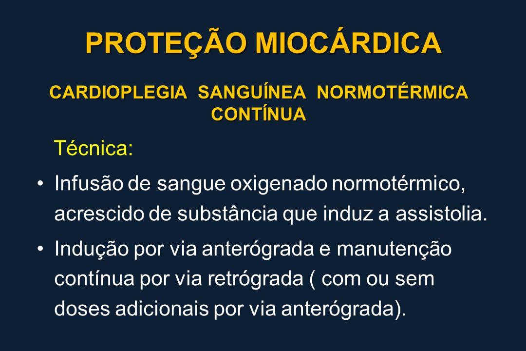 CARDIOPLEGIA SANGUÍNEA NORMOTÉRMICA CONTÍNUA