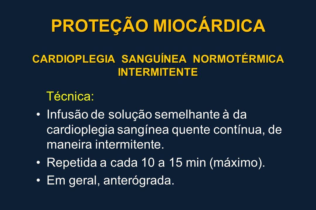 CARDIOPLEGIA SANGUÍNEA NORMOTÉRMICA INTERMITENTE