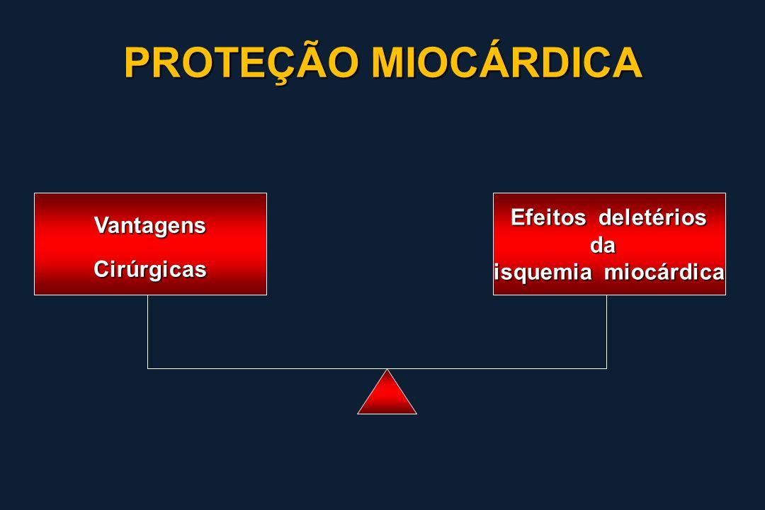 PROTEÇÃO MIOCÁRDICA Vantagens Efeitos deletérios da Cirúrgicas