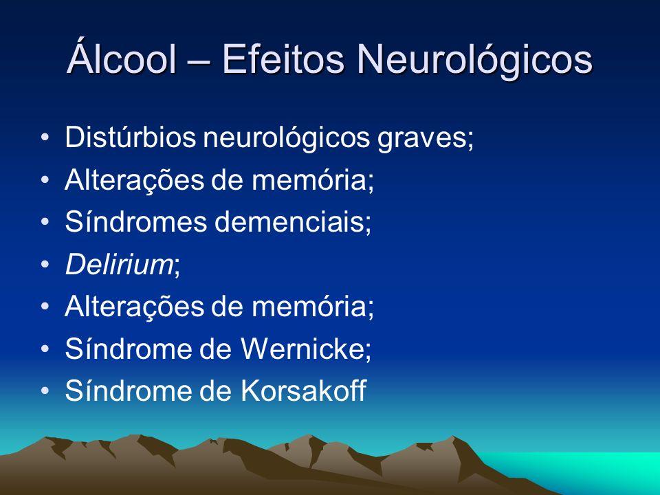 Álcool – Efeitos Neurológicos