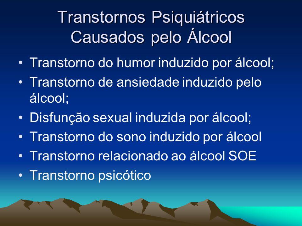 Transtornos Psiquiátricos Causados pelo Álcool