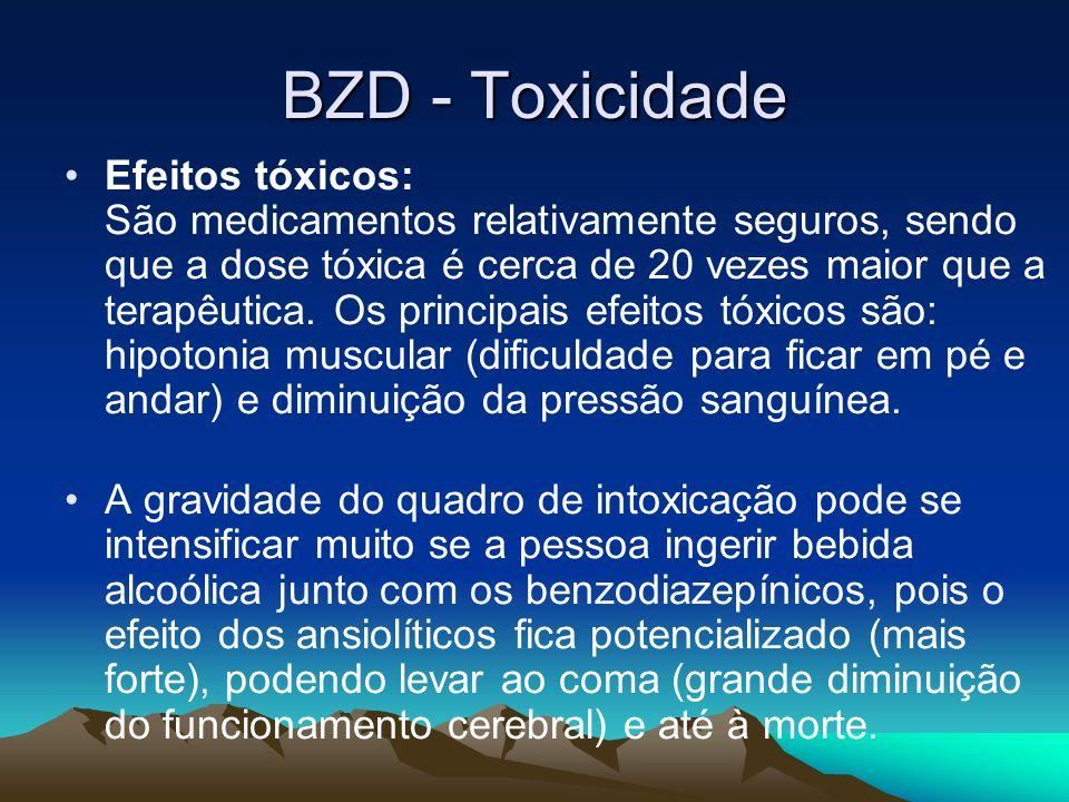 BZD - Toxicidade