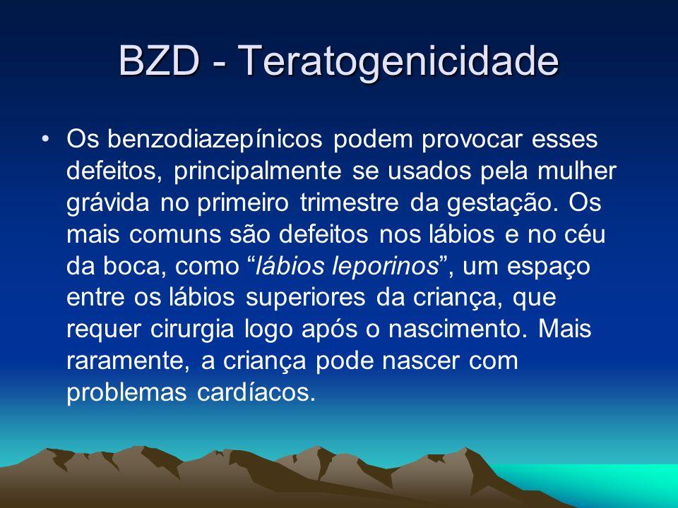 BZD - Teratogenicidade