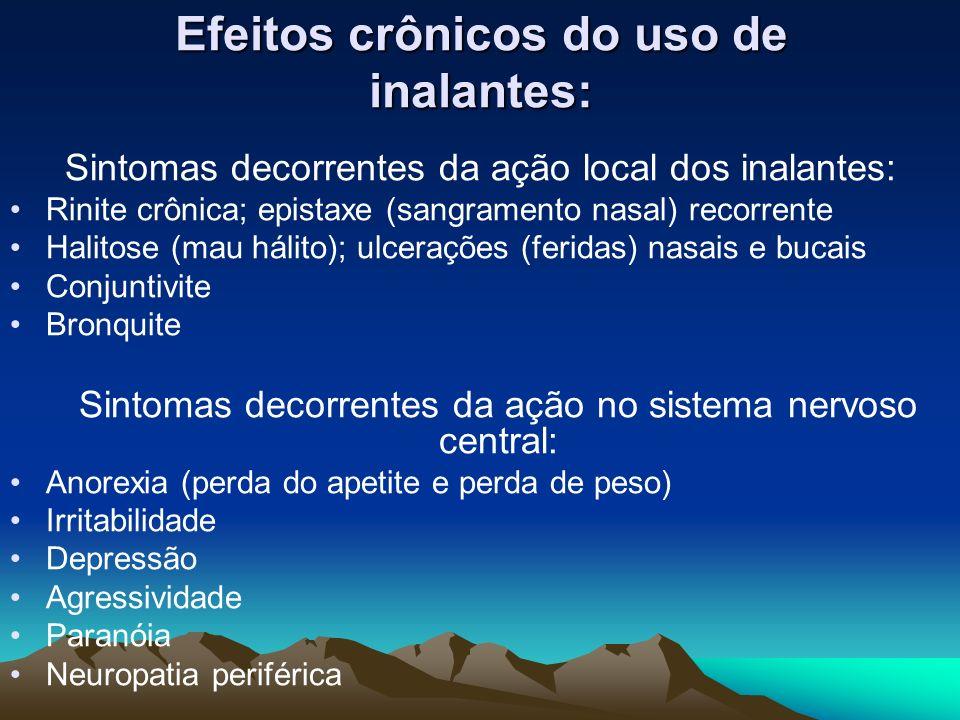 Efeitos crônicos do uso de inalantes: