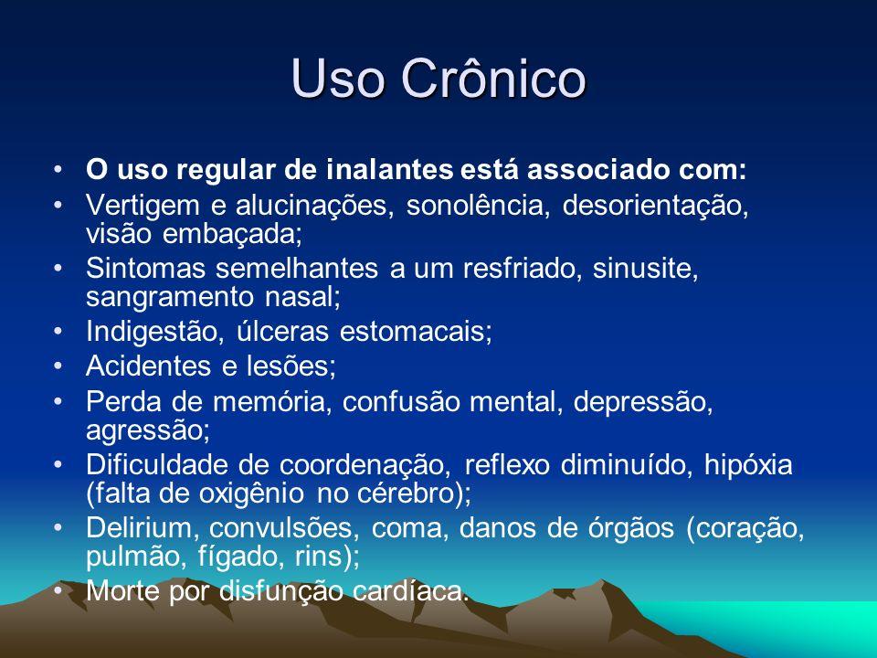 Uso Crônico O uso regular de inalantes está associado com: