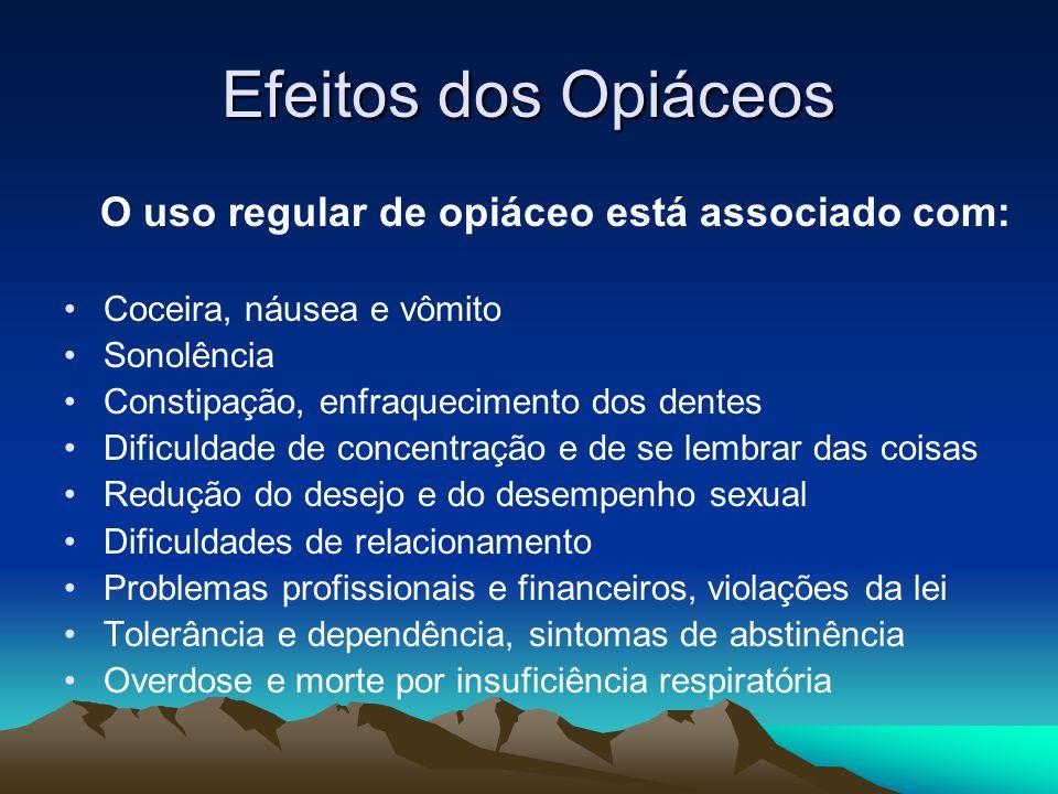 O uso regular de opiáceo está associado com: