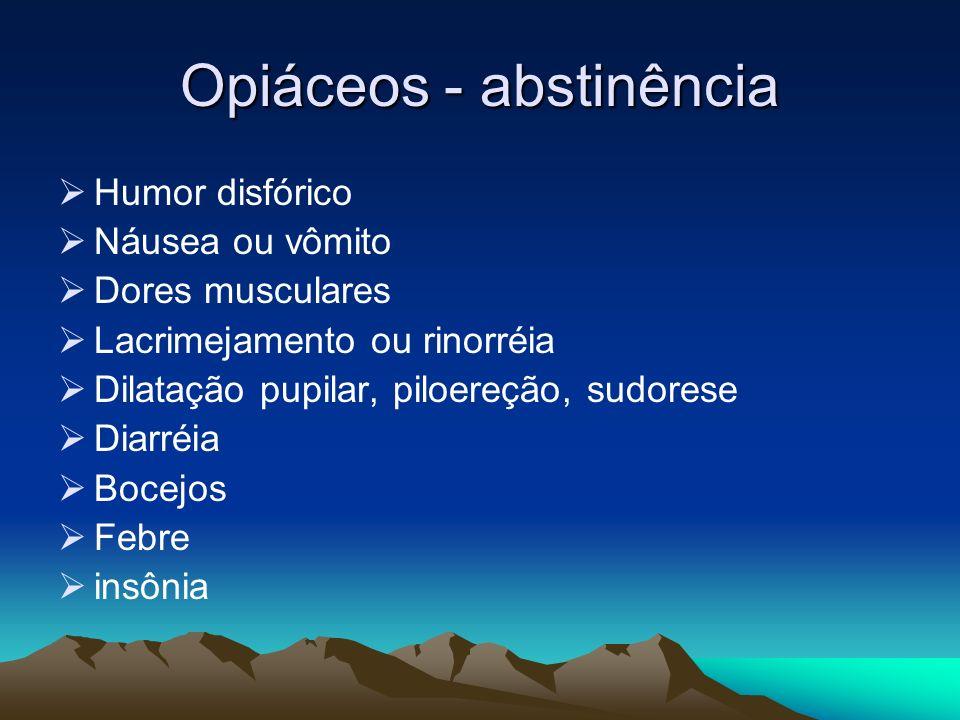 Opiáceos - abstinência
