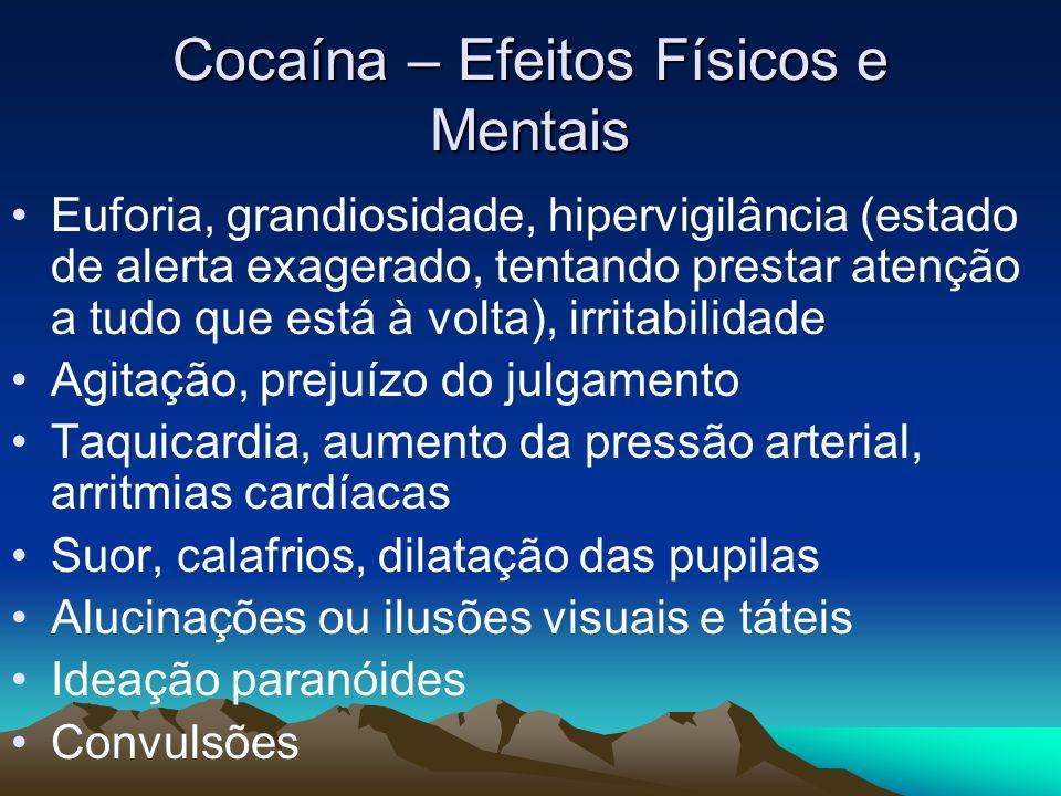Cocaína – Efeitos Físicos e Mentais