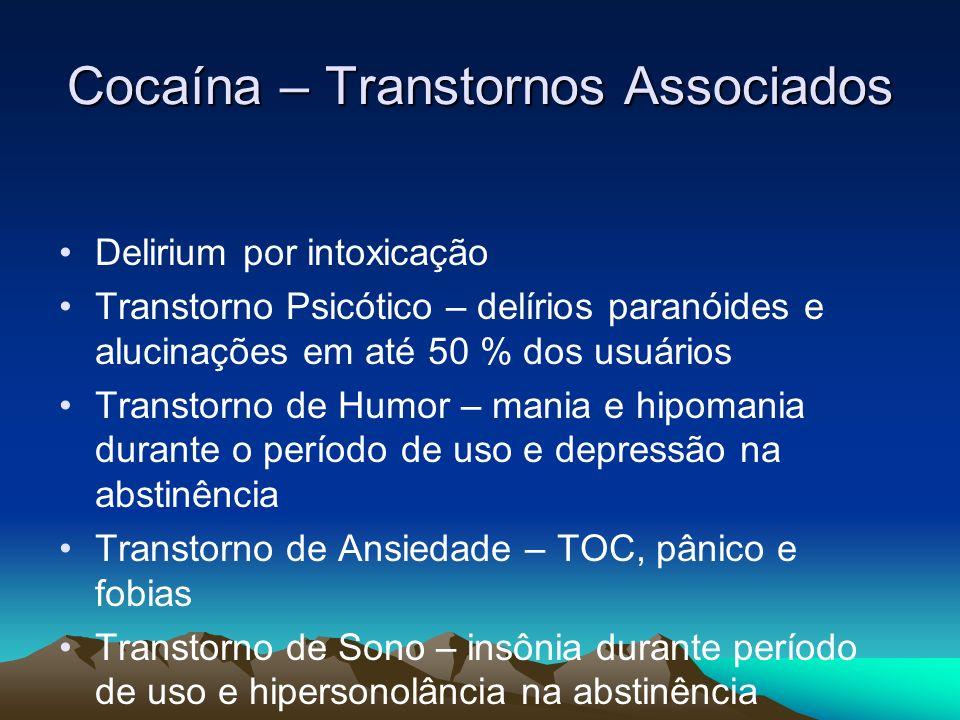 Cocaína – Transtornos Associados