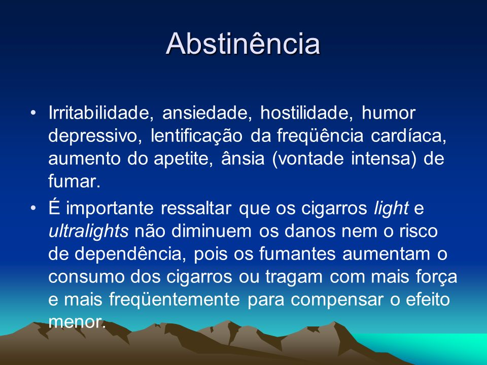 Abstinência