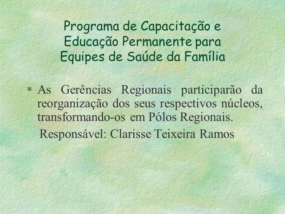Programa de Capacitação e Educação Permanente para Equipes de Saúde da Família