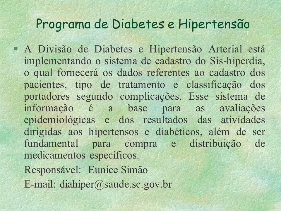 Programa de Diabetes e Hipertensão