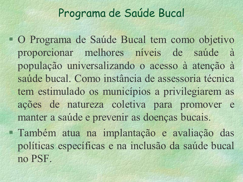 Programa de Saúde Bucal
