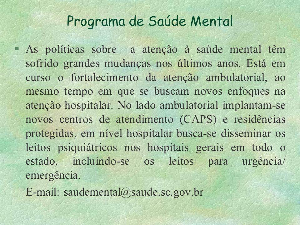 Programa de Saúde Mental