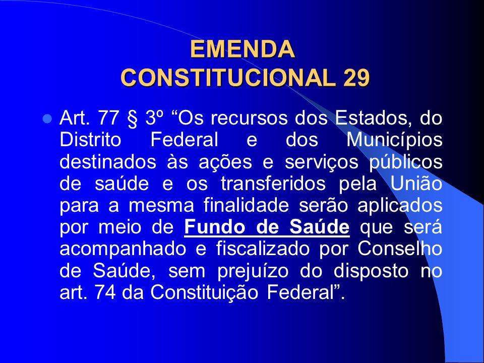 EMENDA CONSTITUCIONAL 29