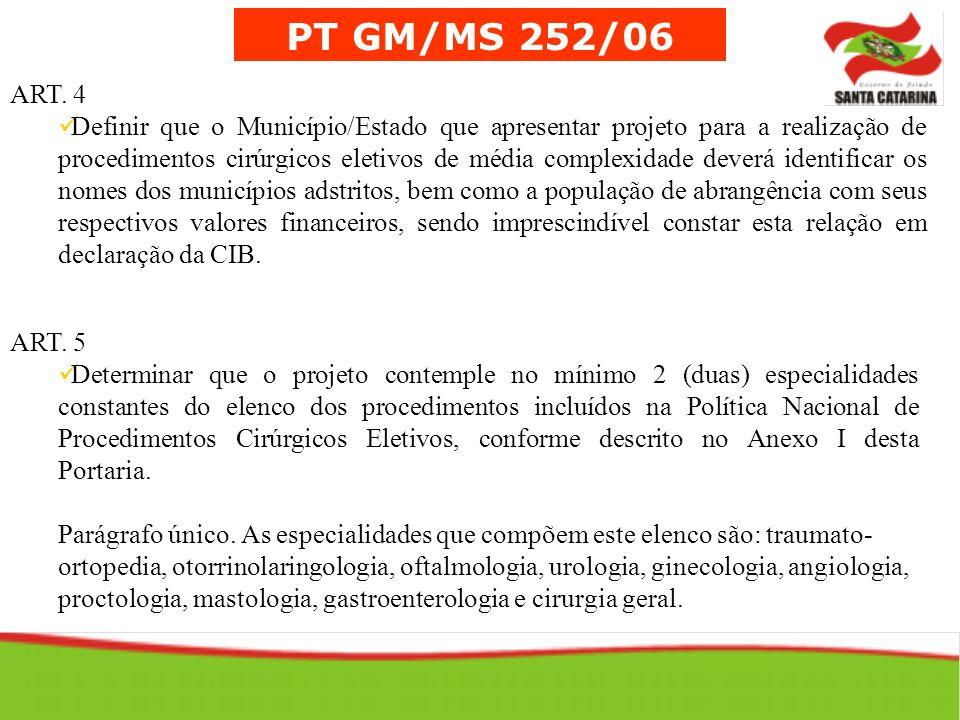 PT GM/MS 252/06ART. 4.