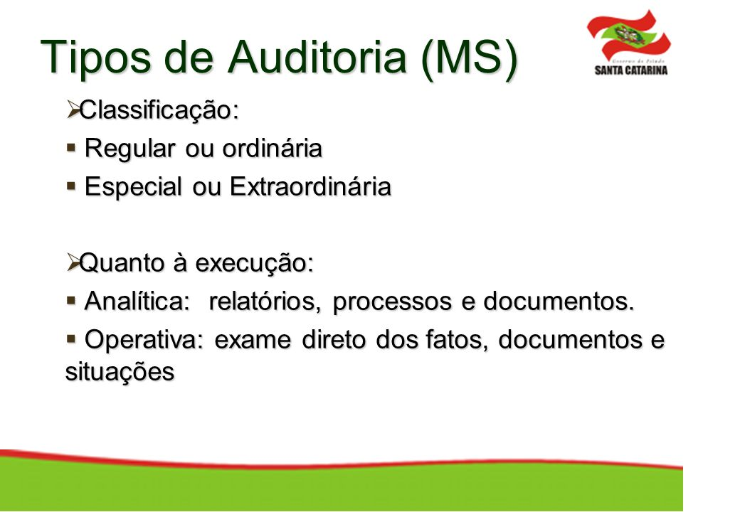 Tipos de Auditoria (MS)