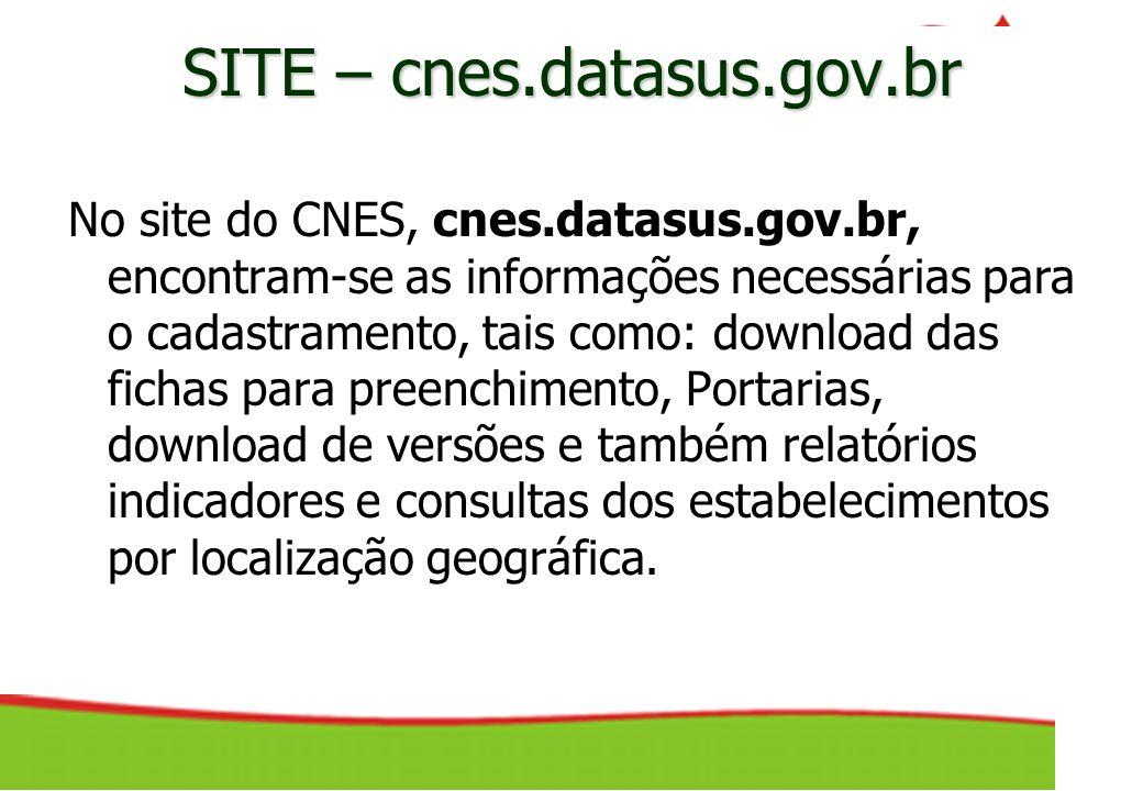 SITE – cnes.datasus.gov.br